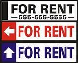 pictures of Real Estate Signs For Rent