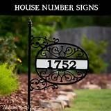 Yard Signs With House Numbers pictures