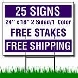 photos of Yard Sign Shipping