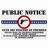 Yard Signs Guns photos