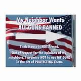 pictures of Yard Signs Guns