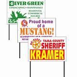 Yard Signs Customized images