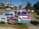 photos of Campaign Signs Houston Texas
