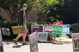photos of Campaign Signs By Polling Places