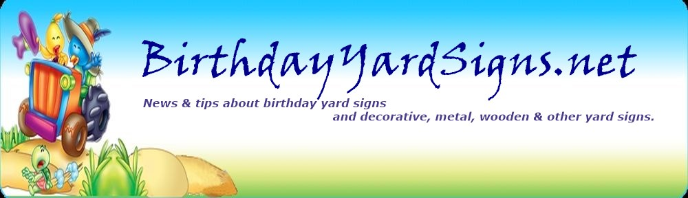 Birthday Yard Signs